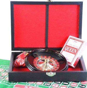 Набір ігор рулетка+покер в шкіряному кейсі Duke REL05001