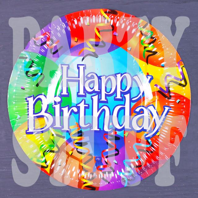 Тарелка картонная для Дня рождения