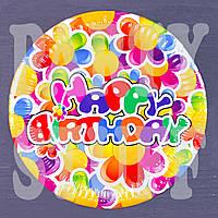 Одноразовые тарелки Happy B - Day Ромашки 18 см, 10 шт