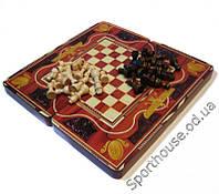 Набор шахматы, шашки, нарды W5008D,E,F,H