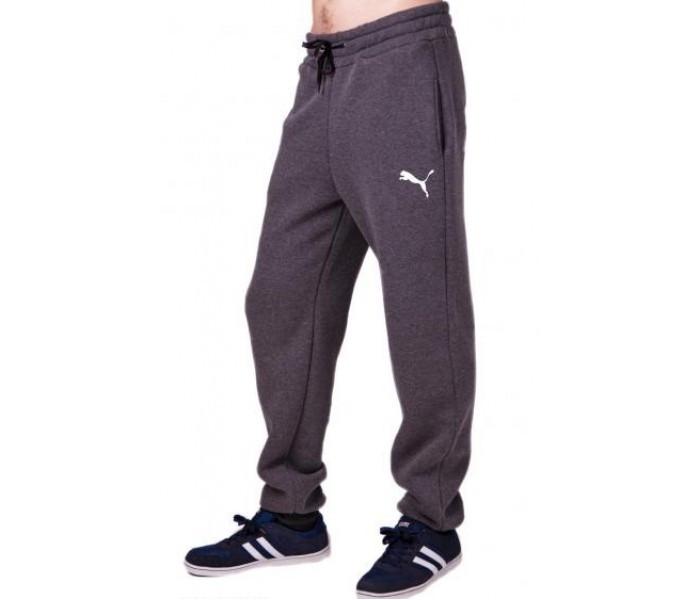 8ac001ab Спортивные штаны с логотипом мужские трикотажные темно серые на резинке  внизу (манжет) Украина, цена 355 грн., купить в Вышгороде — Prom.ua  (ID#256618774)