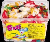 """Жувальні цукерки в пластиковій банці Trolli Різен Боа, 960 г """"Жувальні цукерки в пластиковій банці Trolli Різе"""
