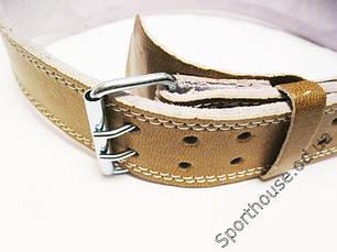 Пояс штангиста широкий коричневый VELO Lackered VLS-12034, фото 3
