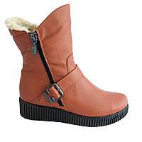 Ботинки зимние, высококачественная кожа, р. 36-41
