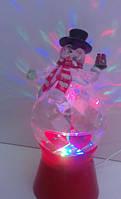 """Лазерный LED диско шар """"Снеговик"""""""