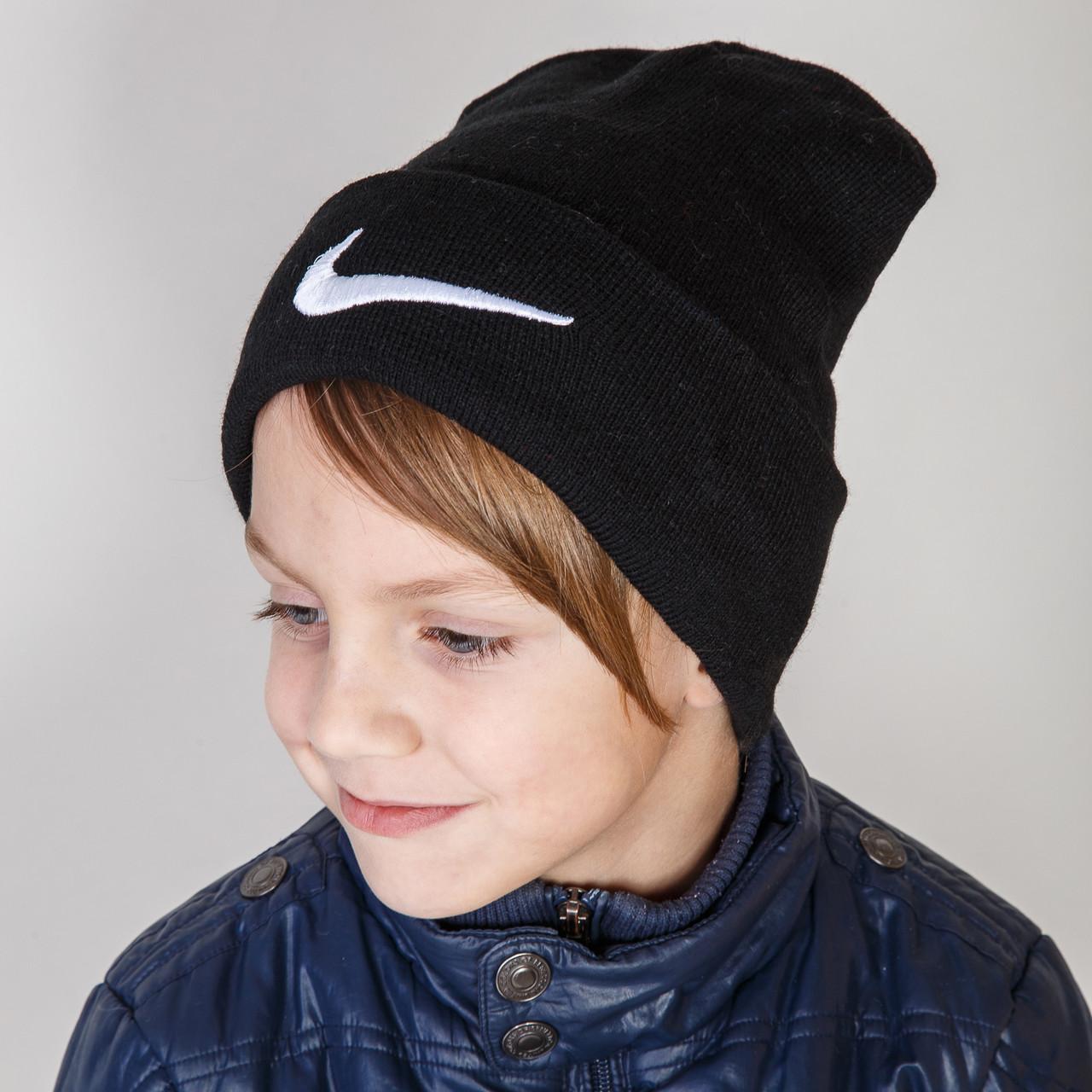 Стильная спортивная шапка для мальчика Nike (реплика) оптом - Артикул 2899