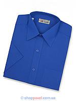 Мужская классическая рубашка De Luxe 201К васильковая (большой размер)