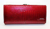Кожаный женский лакированный кошелек