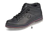 Зимние ботинки черные кожа ТМ Мида мод 14968