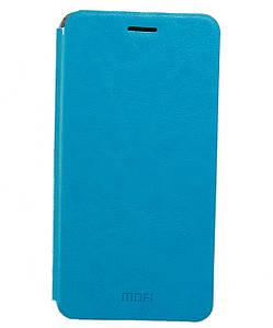 Чехол книжка для Xiaomi Redmi Note 2 боковой, MOFI Голубой