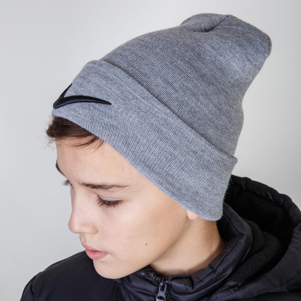 Спортивная зимняя шапка Nike (реплика) для мальчика оптом - Артикул 2902