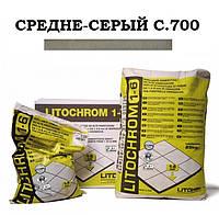 Затирка Litokol Litochrom 1-6 C.700 средне-серый, 5 кг, фото 1