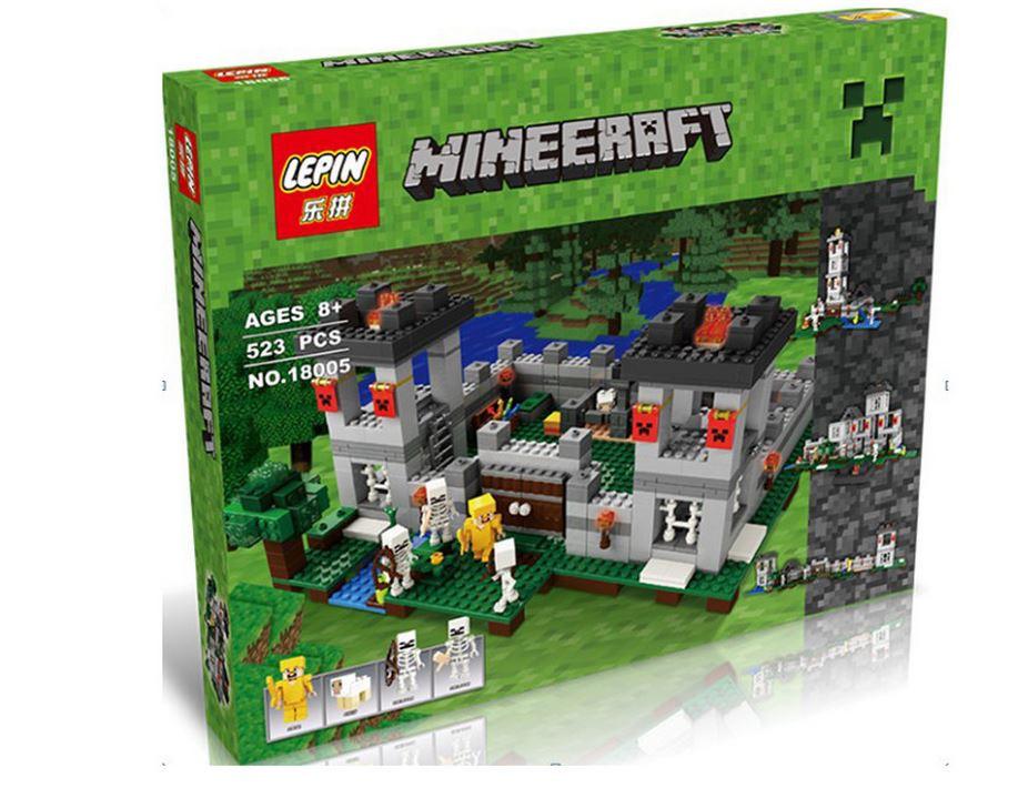 "Конструктор LEPIN 18005 Minecraft \ Майнкрафт (аналог Lego 21127) ""Крепость"", 795 дет."