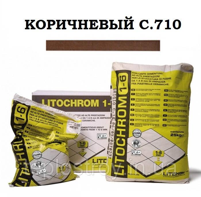 Затирка Litokol Litochrom 1-6 C.710 коричневый, 5 кг