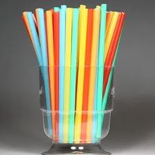 Трубочка 125мм/200шт цветная для мартини