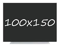 Доска меловая магнитная черная безрамная 100х150 Тетрис