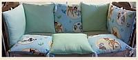 Защита в детскую кроватку из подушек