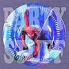 Тарелка одноразовая Человек-паук синяя 18 см (10 шт)