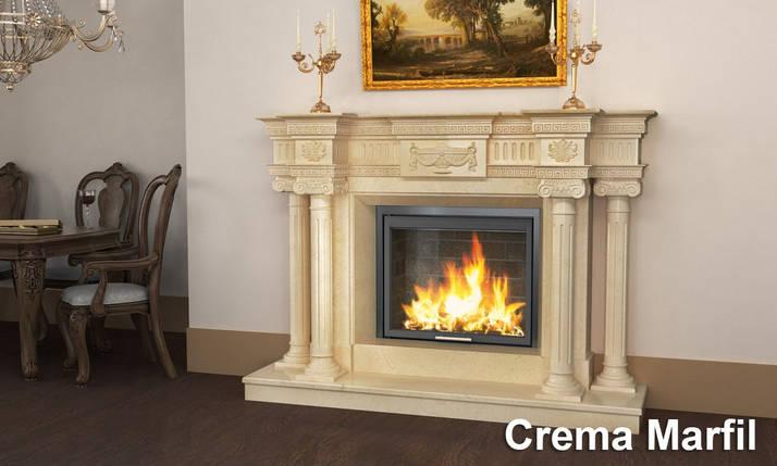 Портал для камина (облицовка) Вашингтон из натурального мрамора Crema Marfil, фото 2