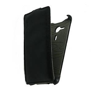 Чехол книжка для Sony Xperia SP C5303 C5302 C5306 M35h вертикальный флип, Exclusive Черный