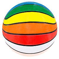 Мяч баскетбол №7 резина,разноцветный R7-MC