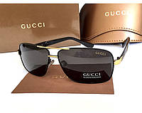 Солнцезащитные очки в стиле Gucci (5015) gold, фото 1
