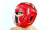 Шлем для единоборств с пластиковой маской FLEX EVERLAST ZB-5209E-R