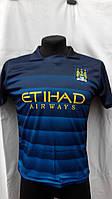 Футбольная форма детская подростковая Манчестер Сити сине-голубая Silva
