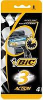 Одноразовый станок для бритья Bic 3 Action 4шт.