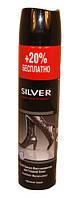 Спрей краска-восстановитель для гладкой кожи SILVER черный 300 мл.