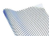 Бумага для упаковки подарков,белая в горошек(серебро)