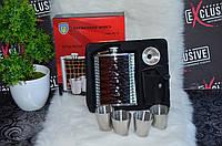 Подарочный набор с флягой и рюмками Классик., фото 1