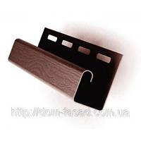 J-профиль коричневый для монтажа софита