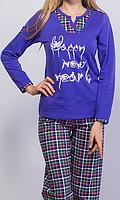 Теплая женская пижамка из начеса