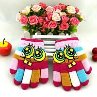 Перчатки зимние, теплые двойные, шерстяные, р. 1-2 года, варежки, рукавички