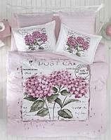 Постельное белье евро Arya  ранфорс Dior розовый