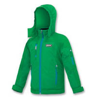 Куртка зимняя термонаполнитель, голубые молнии, мальчик, зеленая YK4R BRUGI, Италия