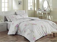 Постельное белье евро Arya  ранфорс Jasmine розовый