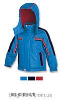 """Куртка зимняя термонаполнитель, красно-черная отделка, мальчик, синий """"электрик"""" YI1Z BRUGI, Италия"""