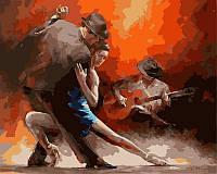Раскраска по номерам 40×50 см. Горячий танец страсти танго Художник Willem Haenraets