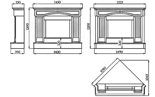 Портал для камина (облицовка) Версаль из натурального мрамора Botticino, фото 2