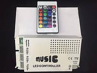 9 канальный ик-контроллер RGB, аудио управление звуком для RGB  лент    . f