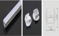 Профиль к лед ленте алюминиевый +молочный PC