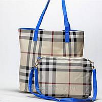 Женская сумка 2 в 1 бежевого цвета, фото 1