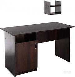 Стол письменный венге с боковыми ящиками и навесной плочкой