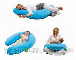 Подушка для беременных и кормления For Kids. Голубой поплин.