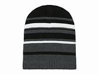 Теплая мужская шапка в полоску
