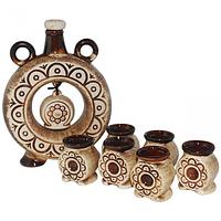 Набор винный Куманок (бутылка -1,1л.,стакан -100мл)