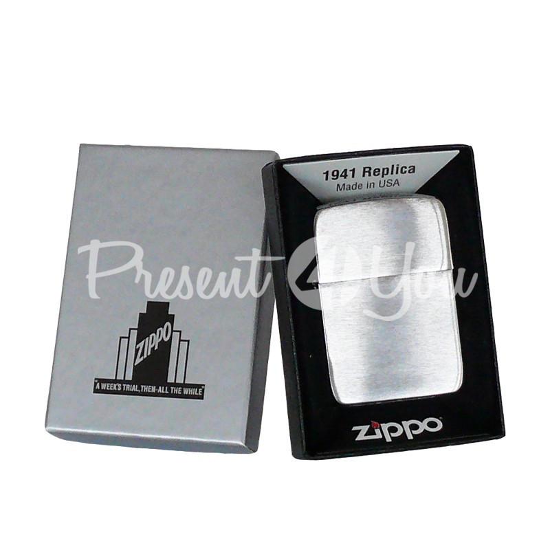 Зажигалка Zippo '1941 REPLICA' Brushed Chrome 1941