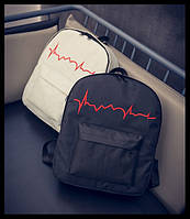 Стильный рюкзак с диаграммой пульса